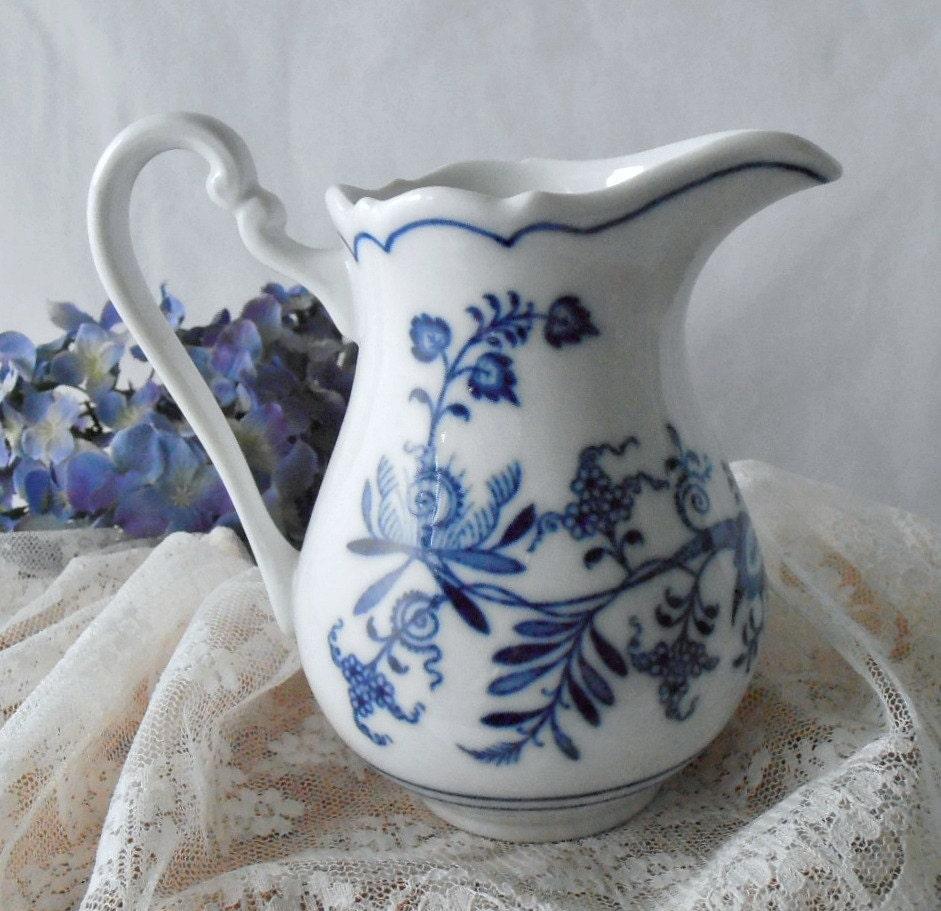 Vintage Zwiebelmuster Meissen Blue Onion Creamer Whitel And