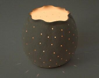 Porcelain Tea Light Candle Holder, wedding candle holder, wedding décor, modern ceramic votive holder, Wedding gift, table decoration