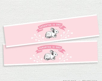 Printable Water Bottle Labels - Some Bunny Birthday Party