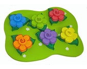 Color Matching Game  Rainbow Flower Garden Stacking Puzzle Rainbow Stacking Toy Ready to ship