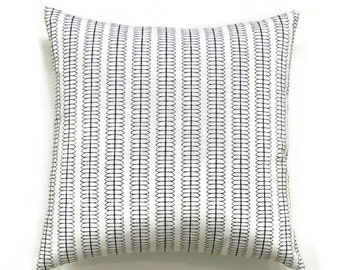 Black Pillows, 18x18 Pillow Cover, Decorative Pillow, Designer Pillow Covers, Modern Cushion Cover, Nate Berkus Cole Stripe
