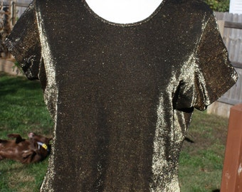 Vintage gold shimmery top
