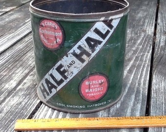 Large Half and Half Tobacco Canister