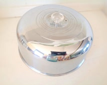 1950's Chrome Cake Plate Cover|Plate Cover|Vintage Kitchen|Cake Server|Vintage Diner|Dining & Serving|Kitchen and Dining|Plates