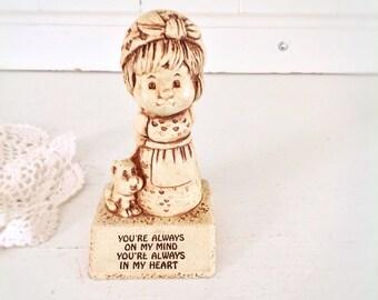 Vintage Paula Figurine Vintage Valentines Gift Wooden Figurine Valentines Day Gift Cute Valentines Gift