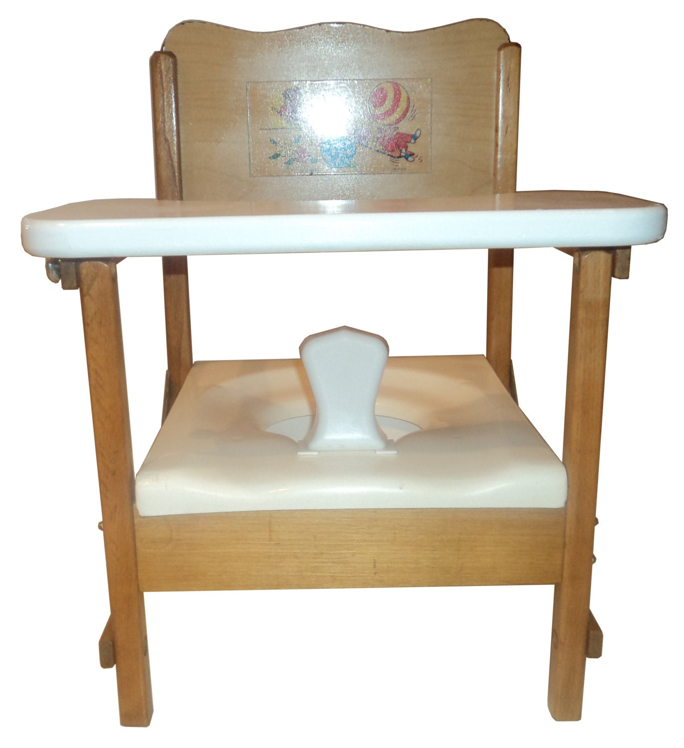 Folding Wooden Potty Chair With Tray Made By Nuline