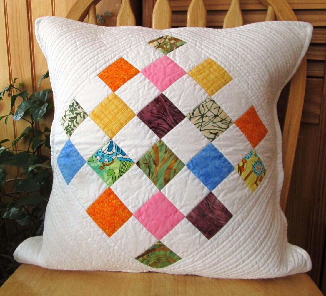 Beautifully Quilted Throw Pillow Cover for 20 pillow