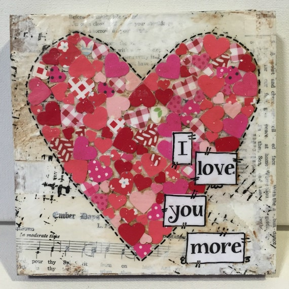 Valentine Gift | Sweetheart Sign | I love you more | Gift Idea