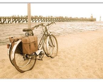 Vintage Bicycle Photo Print, France Bicycle Prints, Bicycle Photography, Vintage Bicycle Photography, Whimsical,France Bike Photography
