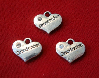 "5pc ""Grandfather"" charms in antique silver style (BC494)"