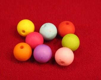 "BULK! 30pc ""round"" acrylic spacer beads (BC599)"