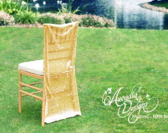 Sequin Chair Covers Wedding Decoration MADE TO ORDER Sparkly Sequin Chiavari Chair Slipcover for Wedding Reception Bridal Shower Engagement