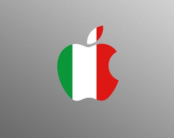 Italian Tricolour Flag Decal Laptop Sticker for Apple MacBook / Pro / Air