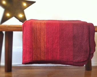 Red Alpaca Throw Blanket