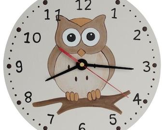 Woodland Owl Clock - Wooden Owl Nursery Clock