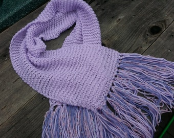 Lavender Scarf warm scarf  knitted scarf  trendy scarf boho scarf Lilac purple gift for her