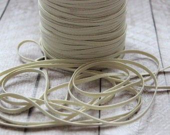 Ivory Skinny Elastic 1/8 inch - Elastic For Baby Headbands - 5 Yards
