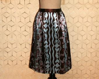 Brown midi skirt | Etsy