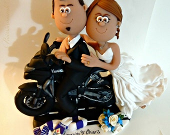 wedding cake topper motorcycle