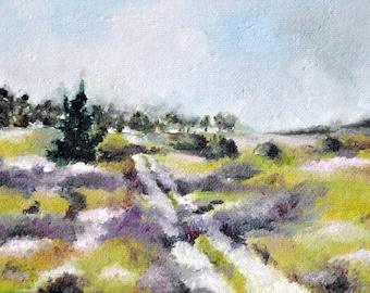 Original Oil Painting, Impressionist Autumn Landscape Painting 5x7 Inch