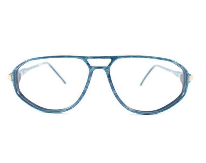 Vintage 70s Aviator Glasses | Pearl Blue Aviator Eyeglass Frame | NOS 1970s Eyeglasses | Vintage Deadstock Eyewear - Blue Velvet
