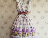 Purple Iris Molly Tea Dress size 10