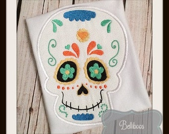 Sugar Skull Applique Design - Sugar Skull Embroidery Design - Halloween Applique Design - Applique Design - Skull Applique Design