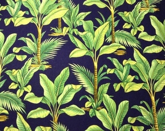 One Half Yard of Fabric Material - Tropical Palms,