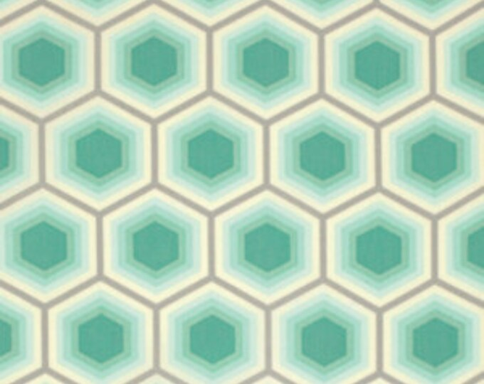 Honeycomb in Jade - Tula Pink - Free Spirit - Cotton Woven Fabric