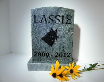 Pet Memorial Stone, Granite Pet Marker, Engraved Stone Pet Grave Marker