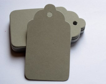 Medium Sized Light Gray Chalkboard Gift Tag / Light Gray Chalk Gift Tags / Favor Tag / Wedding Tags / Scrapbooking Tags / 24 Count
