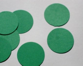 Green Circle Table Confetti / Green Round Table Decor / Wedding Confetti / Table Scatter / Scrapbooking Embellishments / 100 Pieces