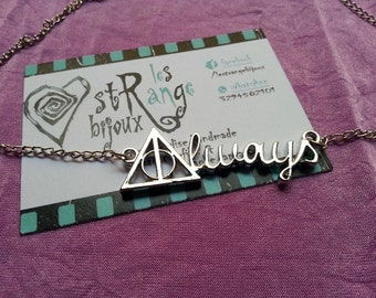 Harry Potter Always necklace Severus Snape