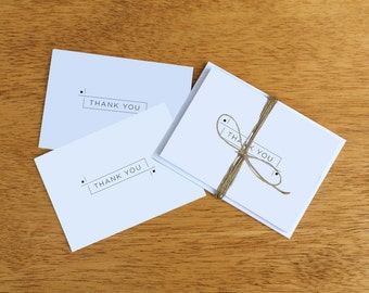 Modern Dashed Thank You Notes