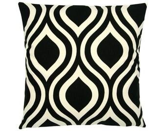 Cushion cover 50 x 50 cm black natural EMILY