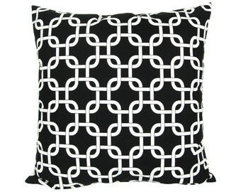 Cushion cover 40 x 40 cm Premier prints gotcha black and white zipper