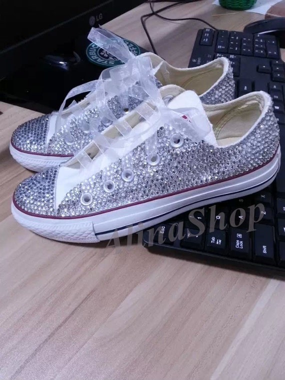 Bling Converse Wedding Shoes White Bling Wedding Converse