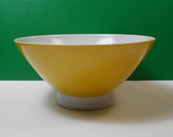 Retro Mikasa Elite Yellow Soup Bowl