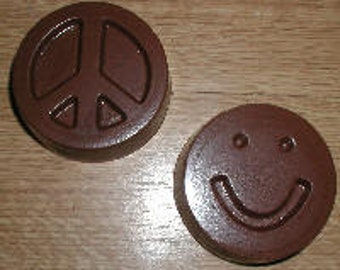 Peace Sign And Smiley Face Bars  Chocolate Mold