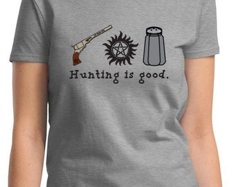 SUPERNATURAL HUNTING Is GOOD Son Women's Men's Kid's Sizes T-Shirt Dean Winchester Sam Winchester
