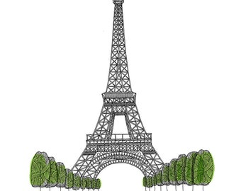 Eiffel Tower, Paris Limited Edition Print