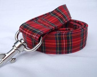 Royal Stewart Tartan / Scottish Plaid/ Red Tartan Lead/ Leash