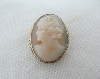 DIXELLE 12K Gold-Filled Cameo Brooch Item W-#432