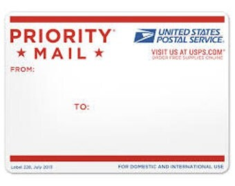 PRIORITY MAIL USPS average 3 day shipping