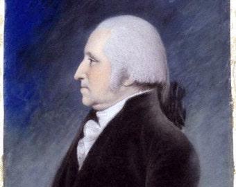 George Washington by Ellen Sharples before 1811 11x14 Canvas Print