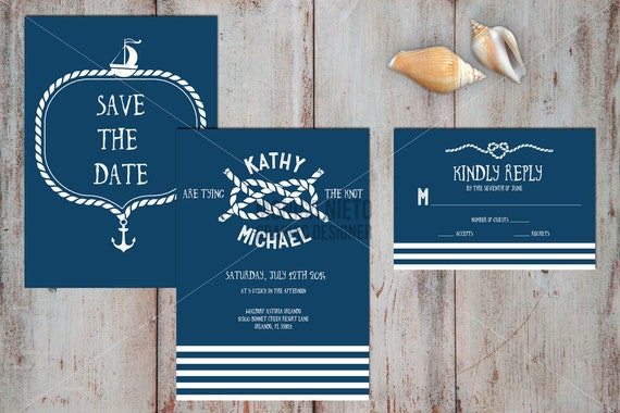 Printable Nautical Wedding Invitations – Nautical Wedding Invite
