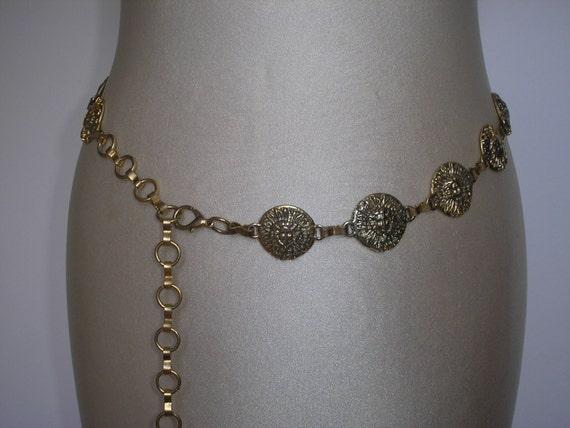 authentische versace gold kette g rtel medusa head medaillon. Black Bedroom Furniture Sets. Home Design Ideas