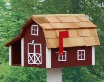 Amish Made Painted Mailbox Combo