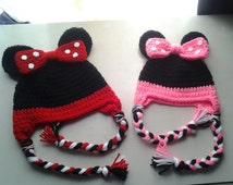 Free Crochet Pattern For Toddler Minnie Mouse Hat : Popular items for minnie mouse hat on Etsy
