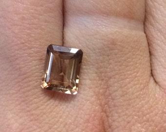 4ct Rectangle cut Imperial Topaz Gemstone.